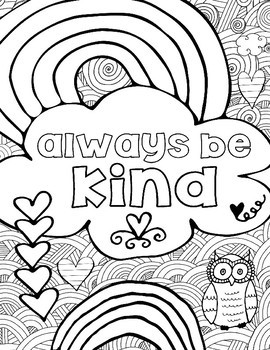 teachers pay teachers2 | choose kindness coloring pages | free printable be kind coloring pages